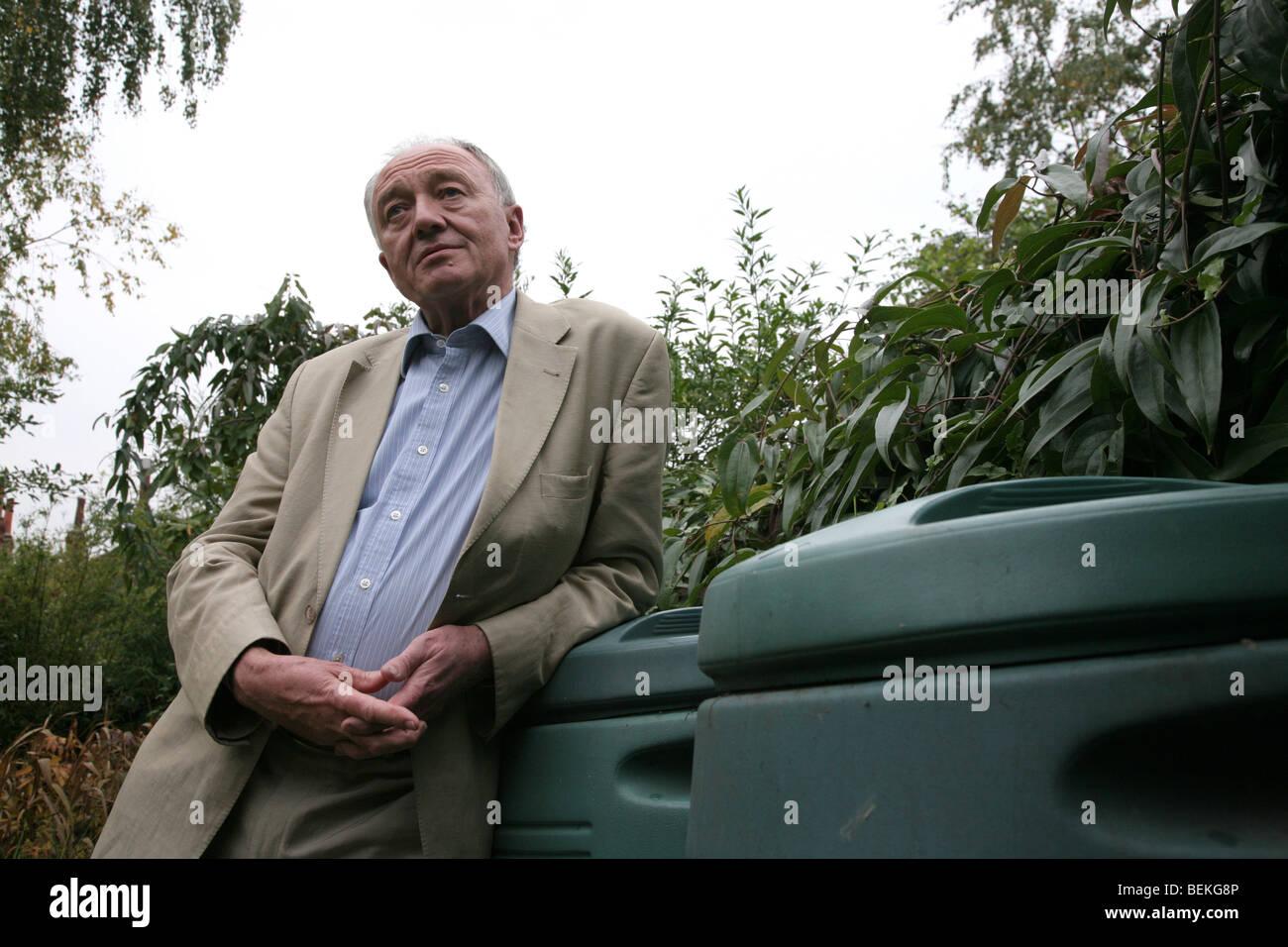 Former Mayor of London Ken Livingstone at home in north London , UK. - Stock Image