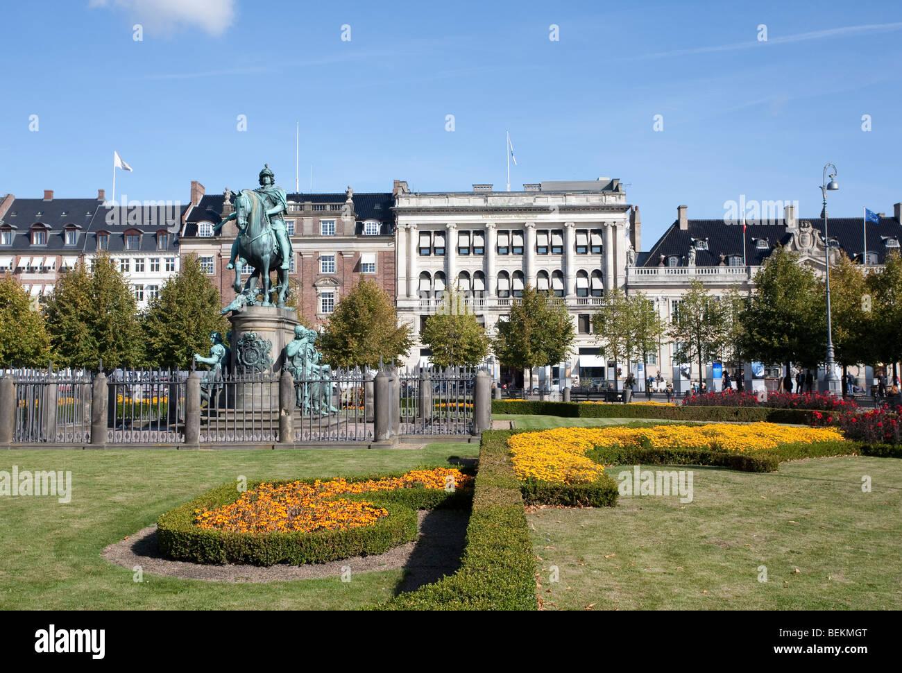 King's New Square (Kongens Nytorv) Copenhagen, Denmark, Scandinavia - Stock Image