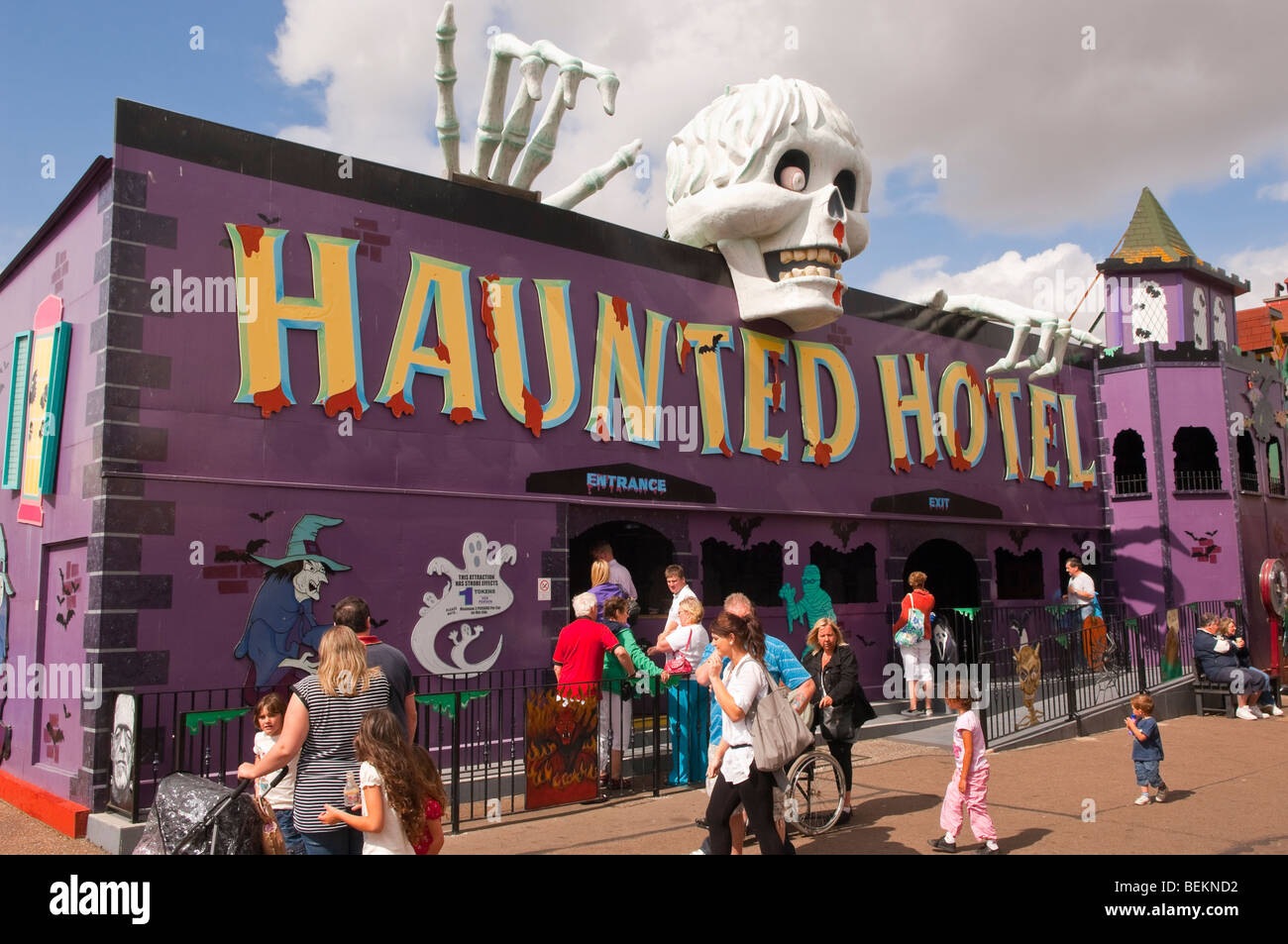 The Haunted Hotel at the Pleasure Beach in Great Yarmouth,Norfolk,Uk - Stock Image