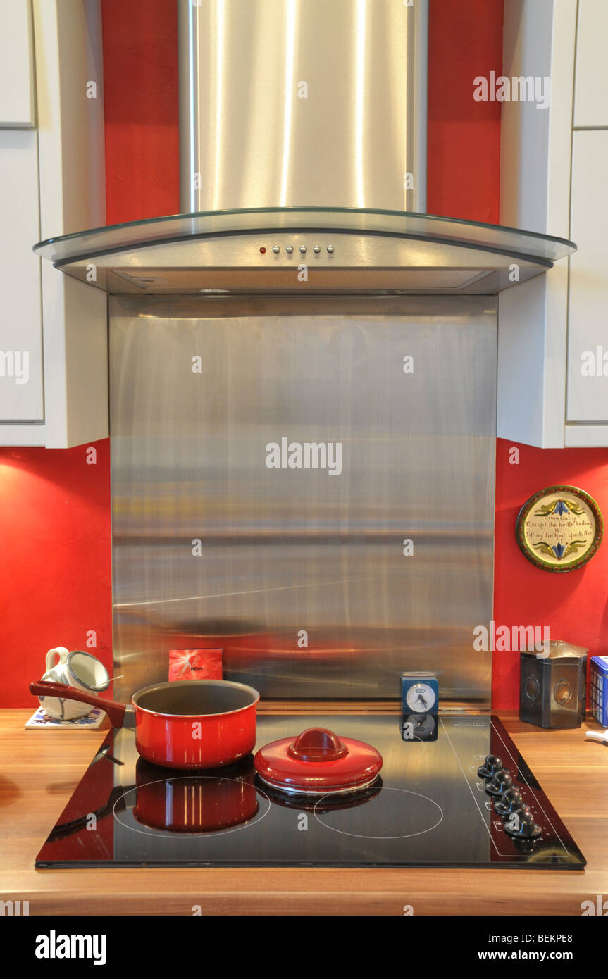 Modern Kitchen With Electric Stove Cooker And Air