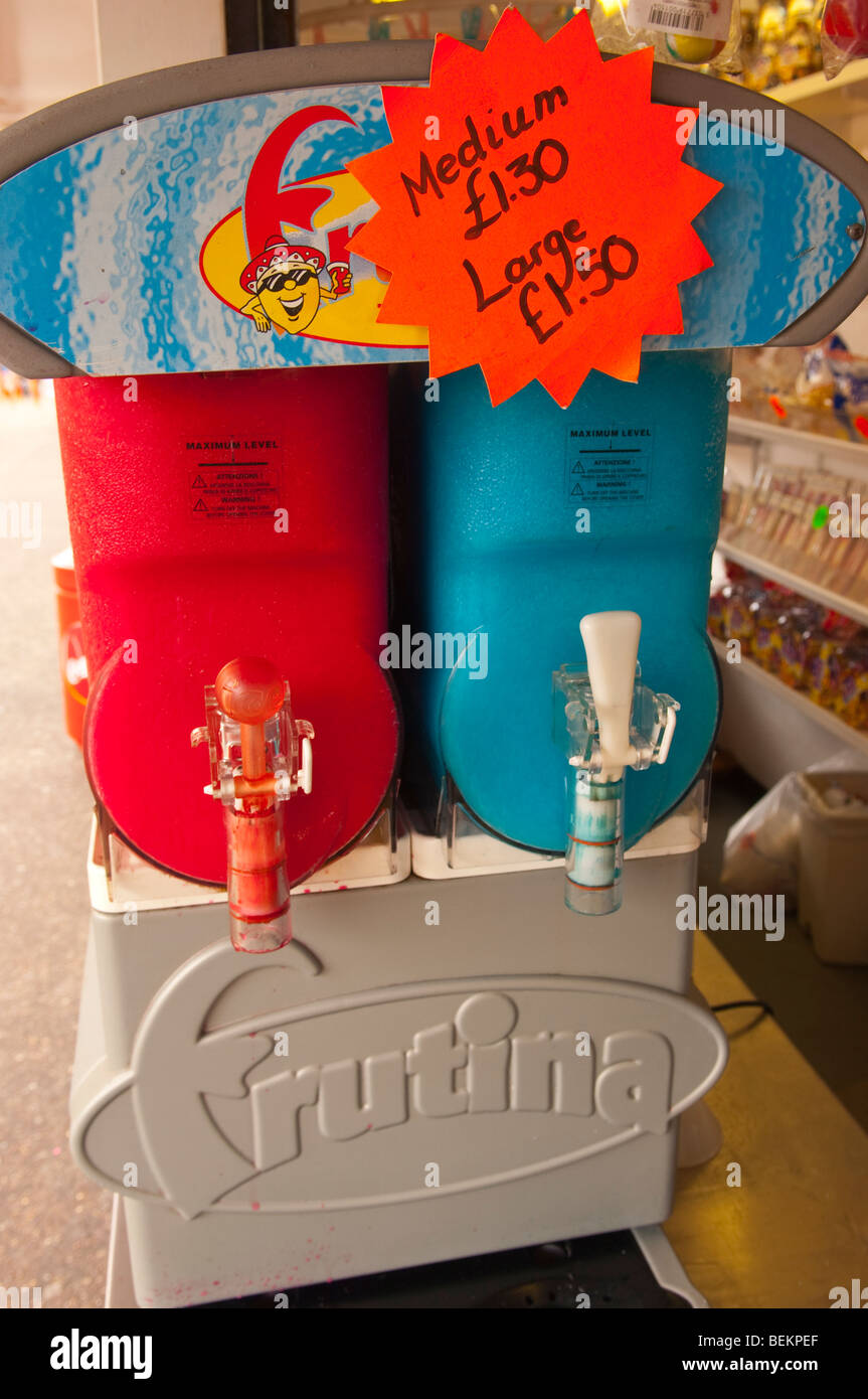 A Fruitina slush machine for frozen iced drinks in the Uk - Stock Image