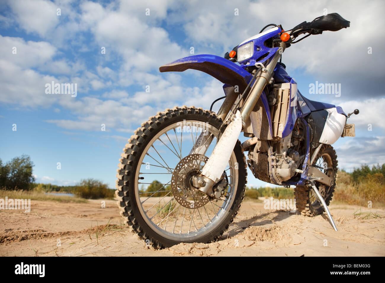 Off-road motorbike for outdoor adventure - Stock Image