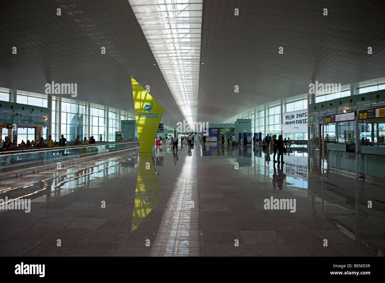 Barcelona airport terminal one - Stock Image