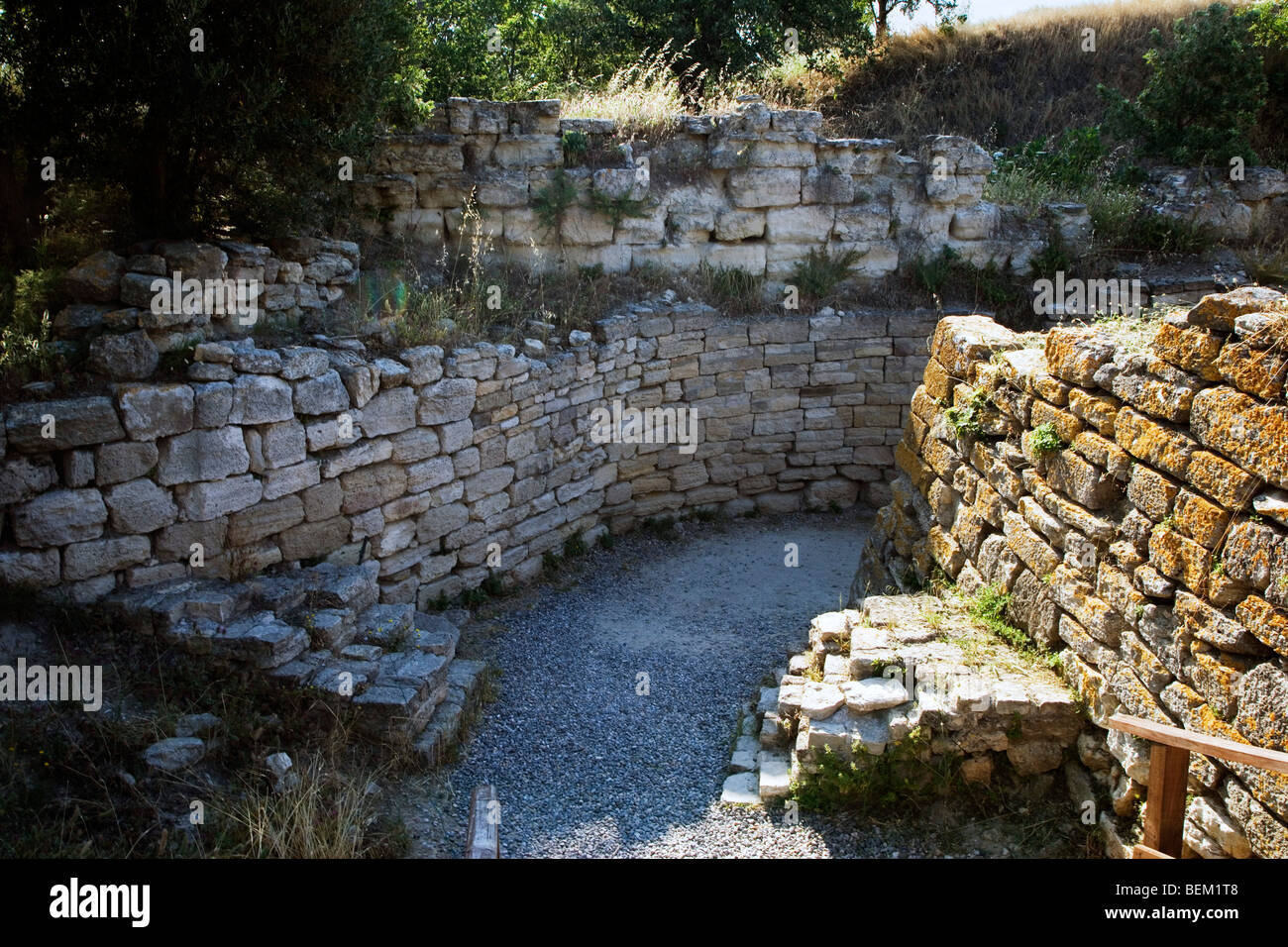 Archeological site, Troy, Turkey, Europe - Stock Image