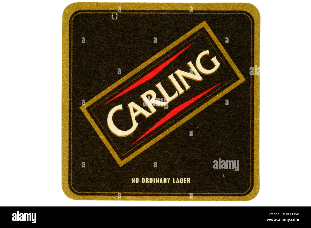 carling no ordinary lager - Stock Image