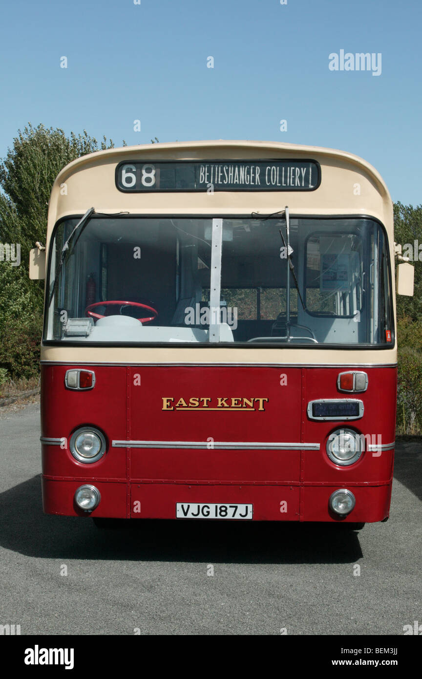 East Kent AEC Swift on show  at the Bank Holiday Mining Heritage Festival at Fowlmead Country Park, Kent - Stock Image