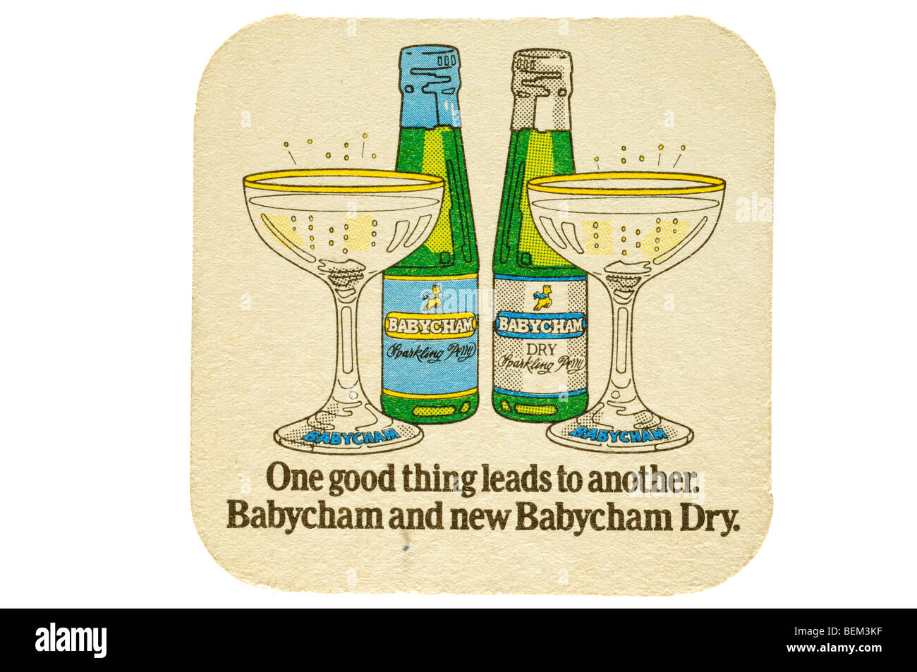 one good thing leads to another babycham and new babycham dry - Stock Image
