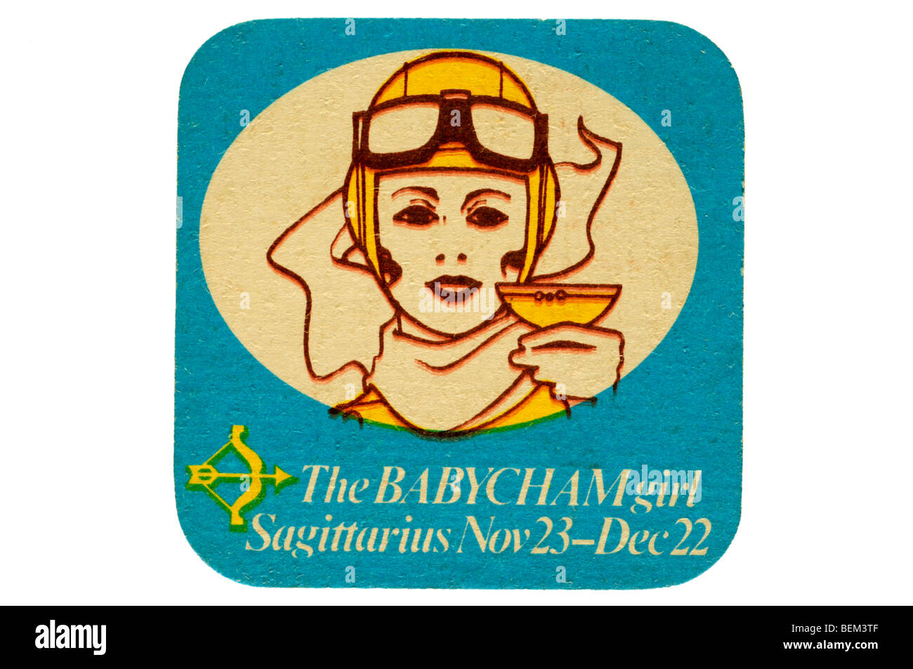 the babycham girl sagiterius nov 23 dec 22 - Stock Image