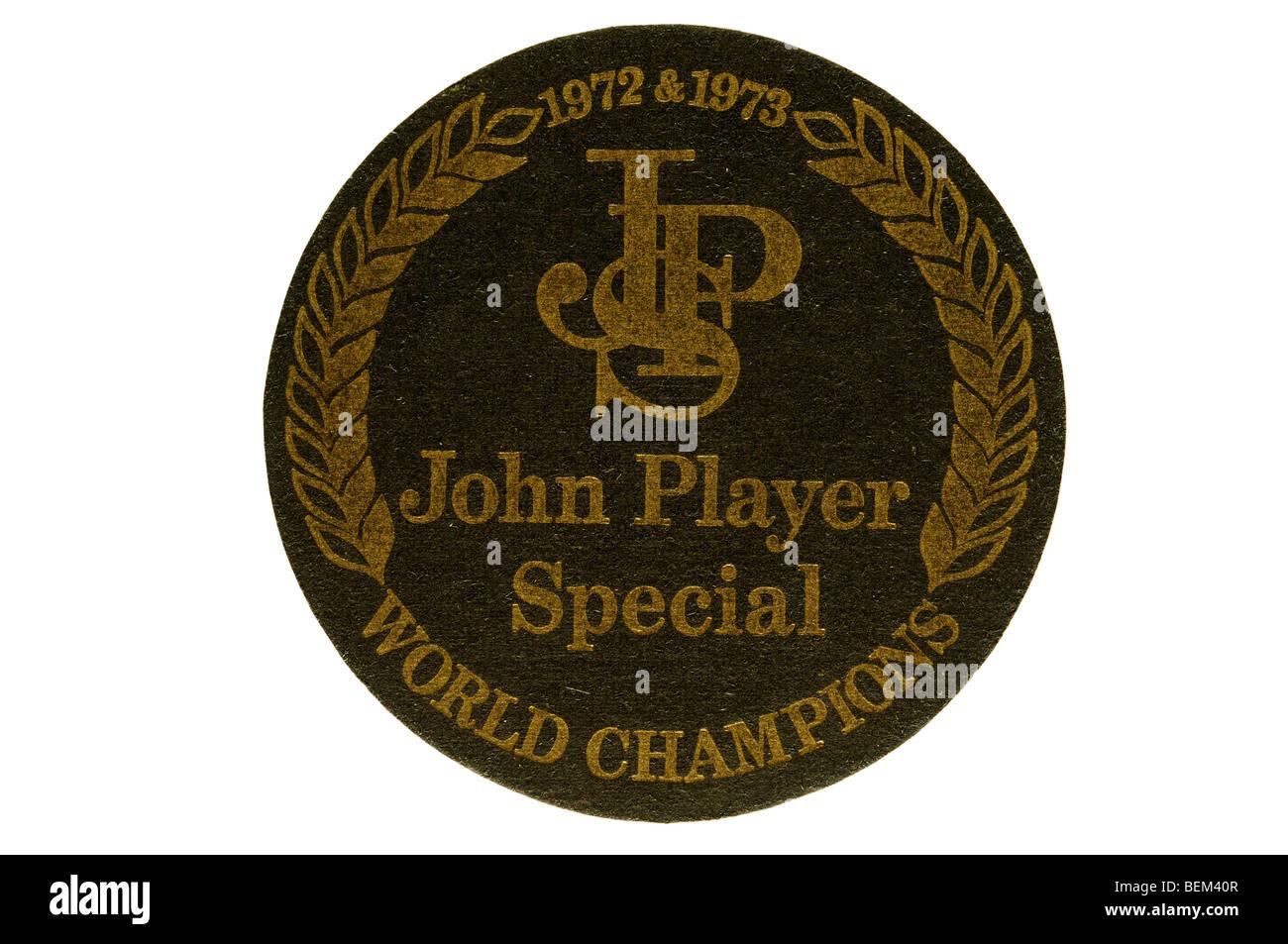 1972 & 1973 JSP john player special world championships - Stock Image