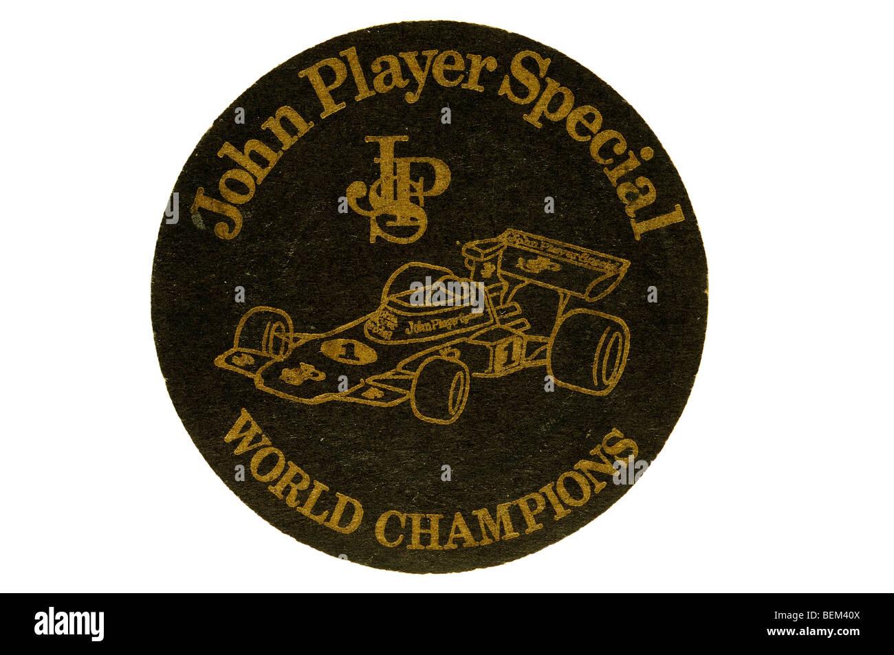 john player special JSP world championship - Stock Image