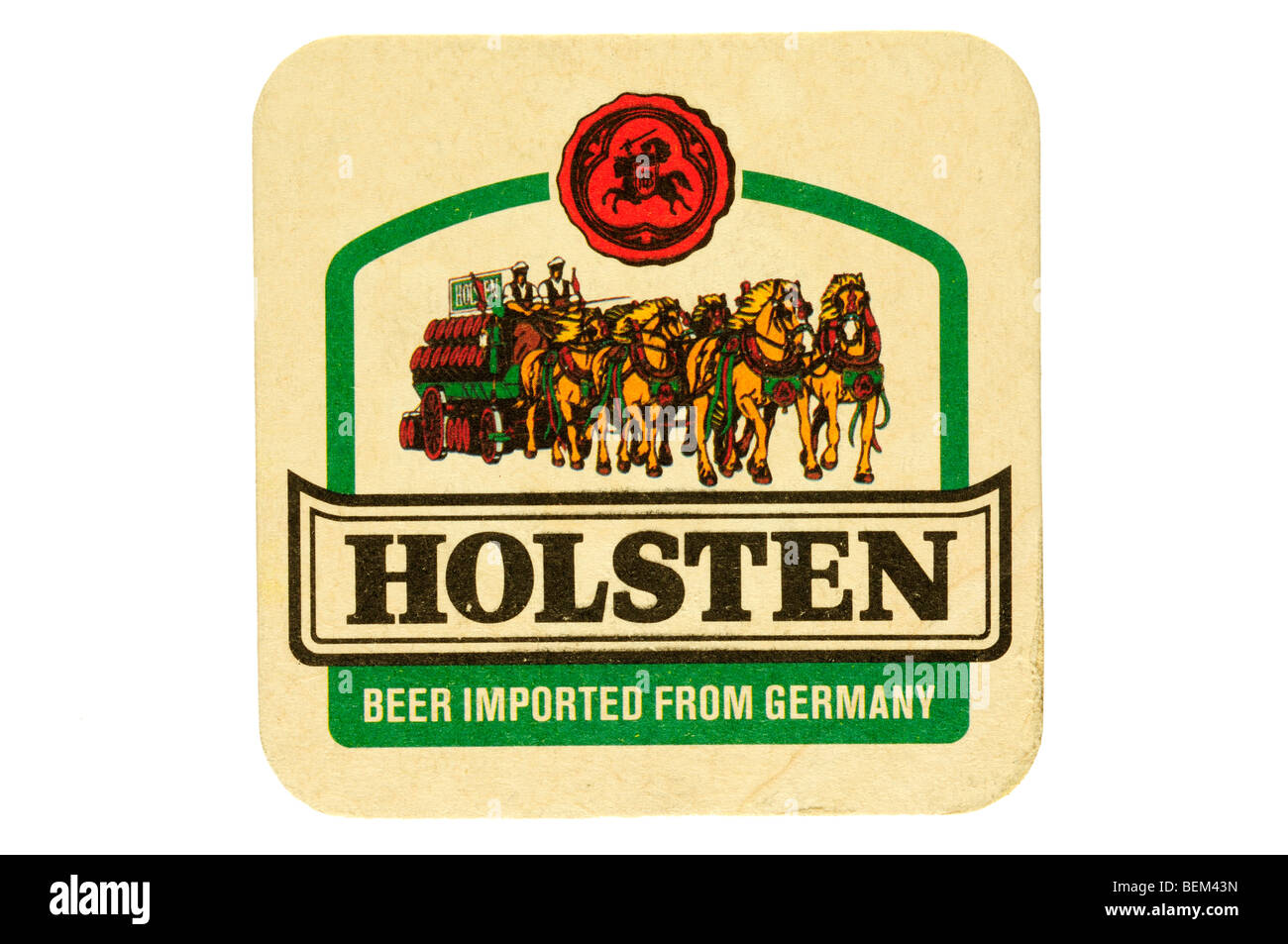 holsten beer imported from germany - Stock Image