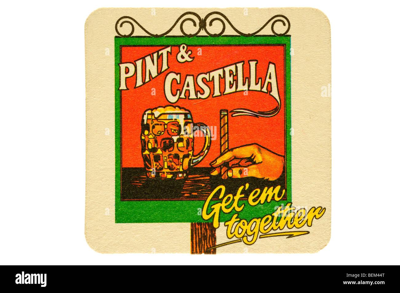 pint a castella get em together - Stock Image
