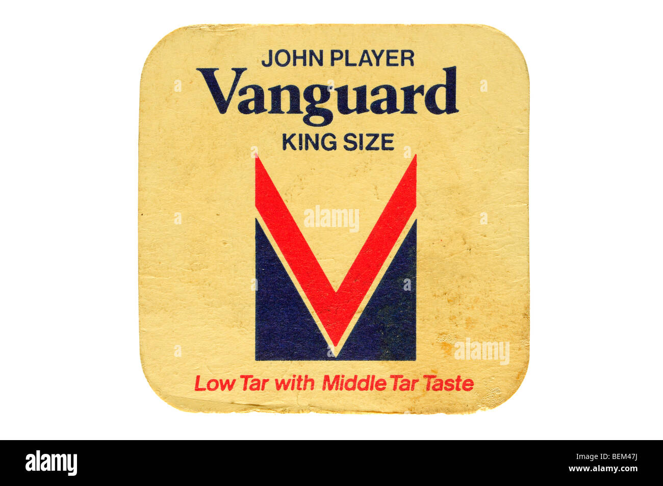 john player vanguard king size low tar with middle tar taste - Stock Image