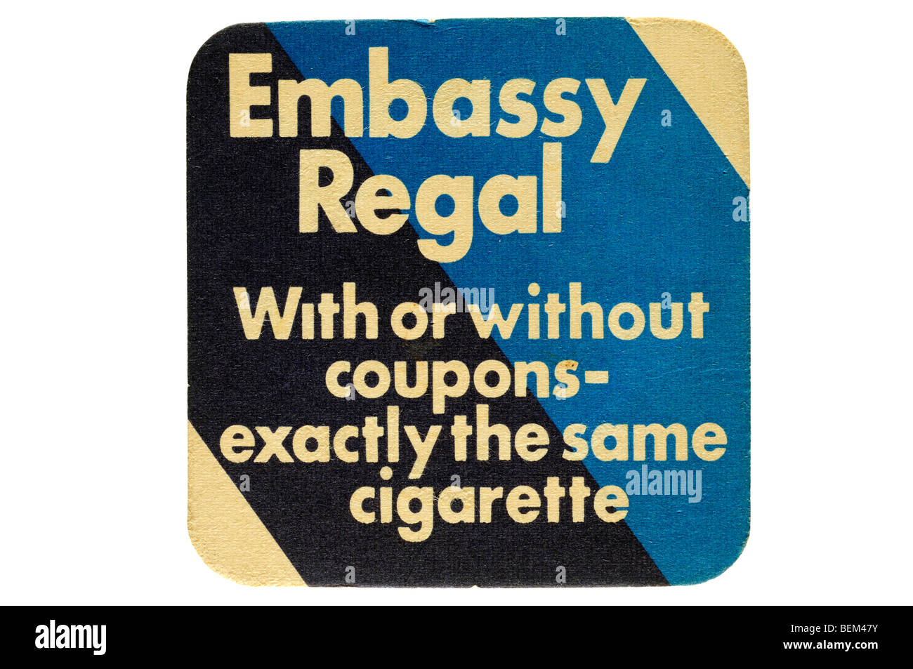 embassy regal with or without coupons exactly the same cigarette Stock Photo