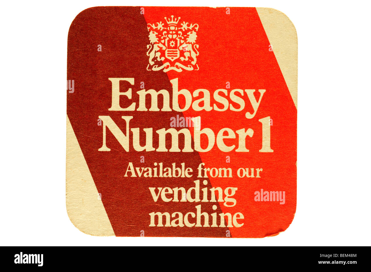embassy number 1 available from our vending machine - Stock Image