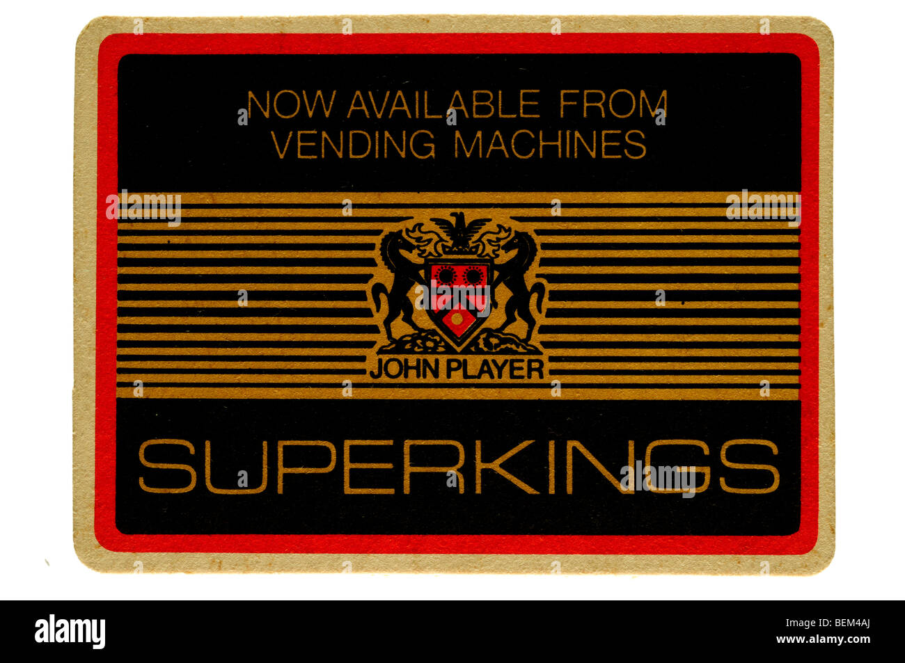 john player superkings now available from vending machines - Stock Image