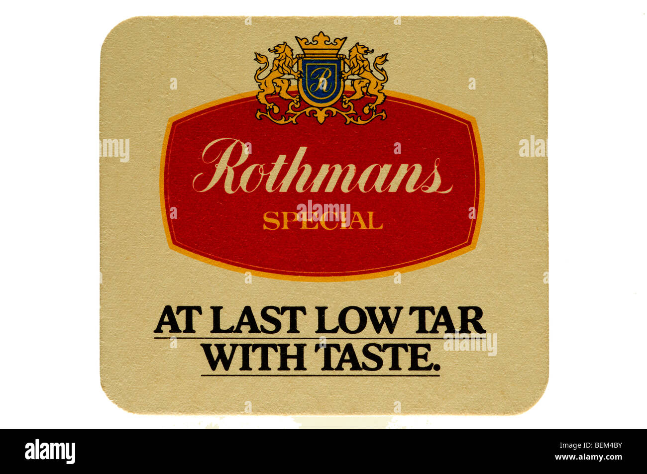 rothmans special at last low tar with taste - Stock Image