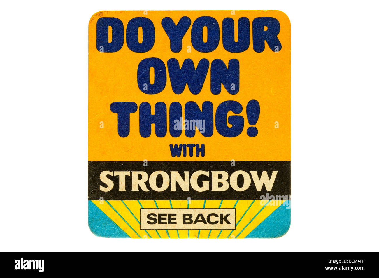 do your own thing with strongbow - Stock Image