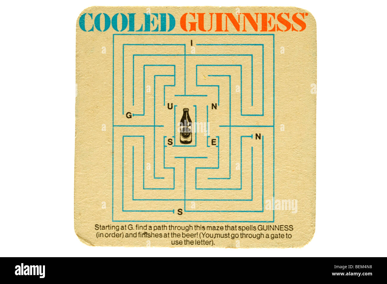 cooled guiness - Stock Image