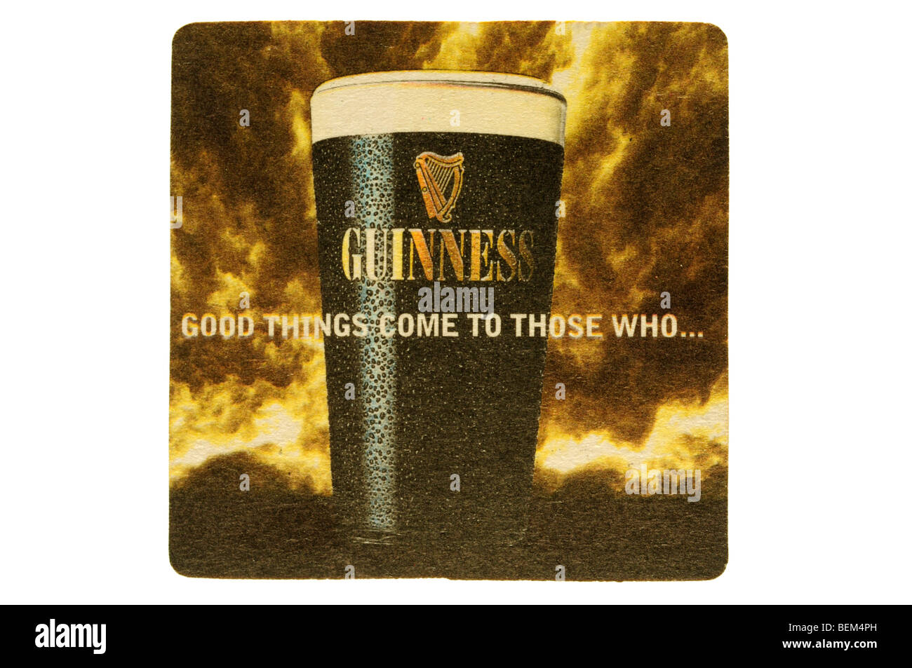 guiness good things come to those who wait - Stock Image