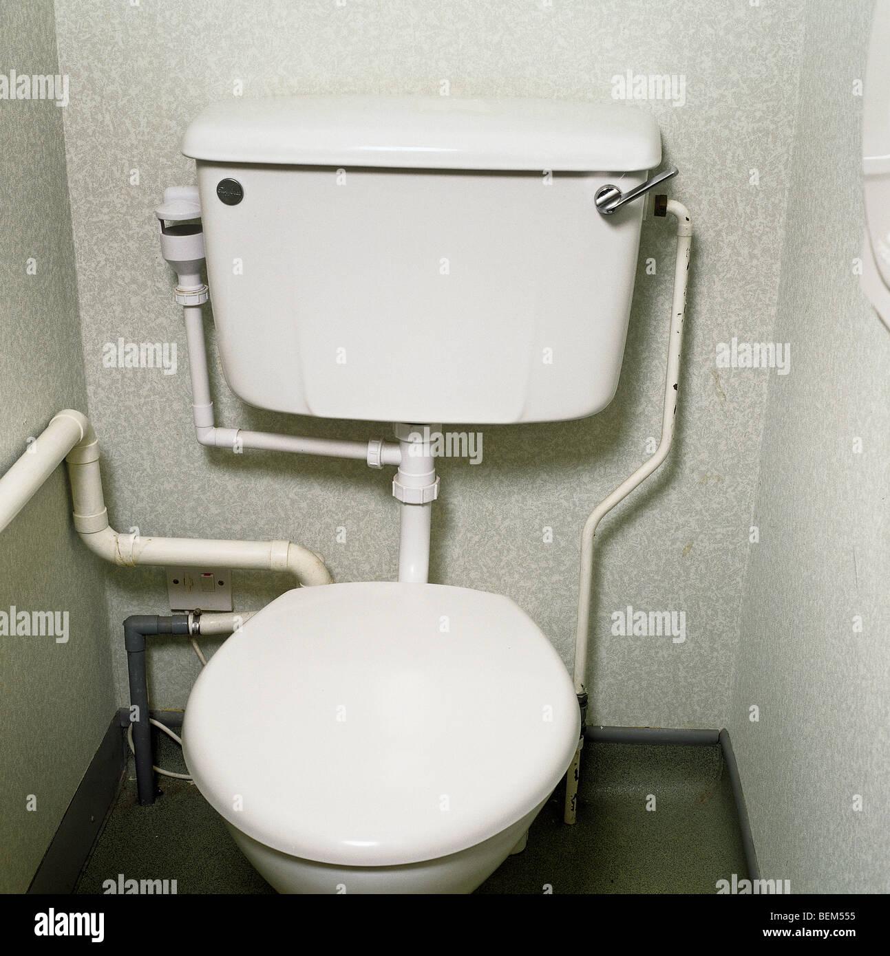 Squat Toilet Minimalist Bathroom: Old Toilet Cubicle Stock Photos & Old Toilet Cubicle Stock
