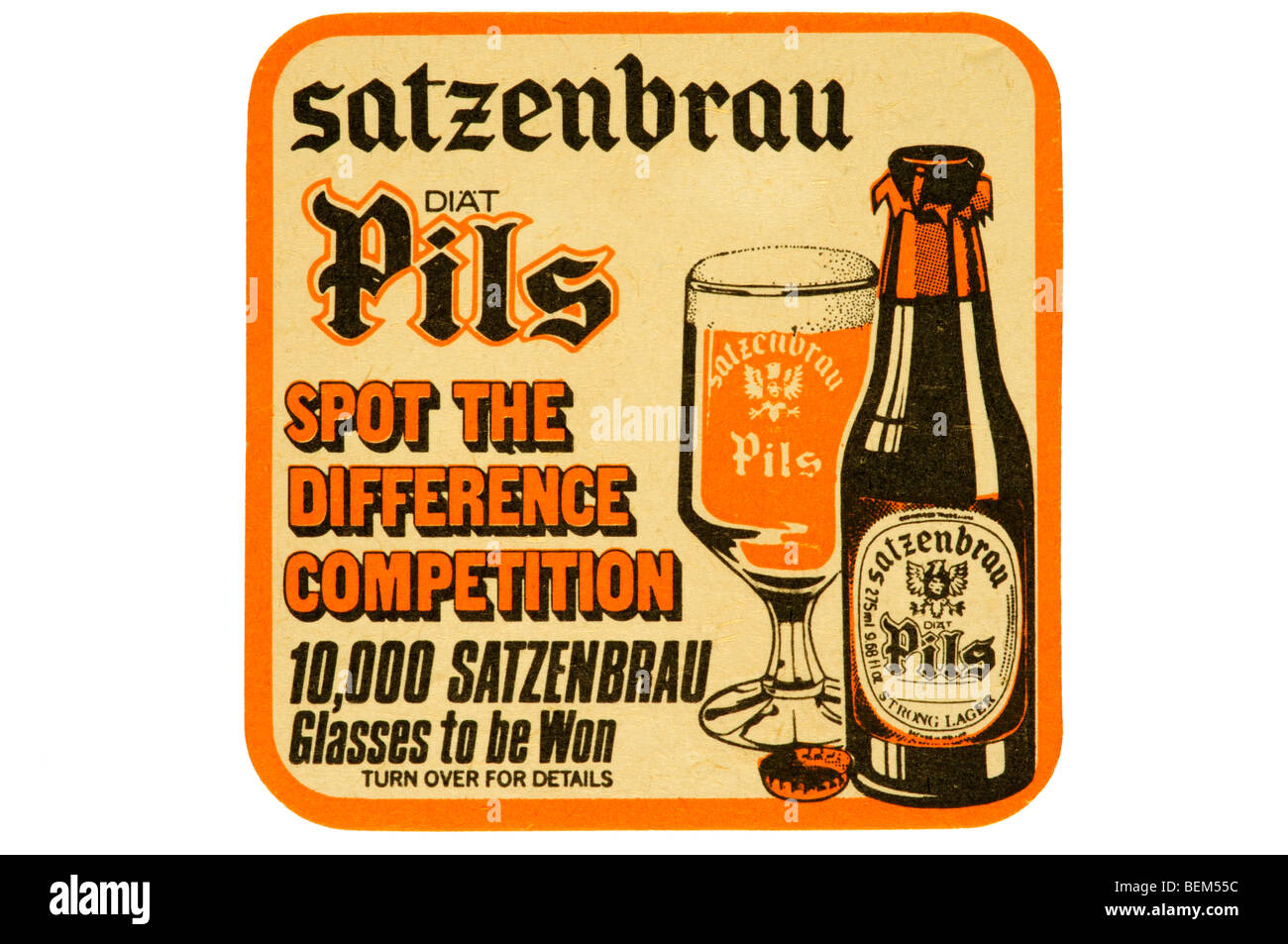 satzenbrau diat pils spot the difference competition - Stock Image