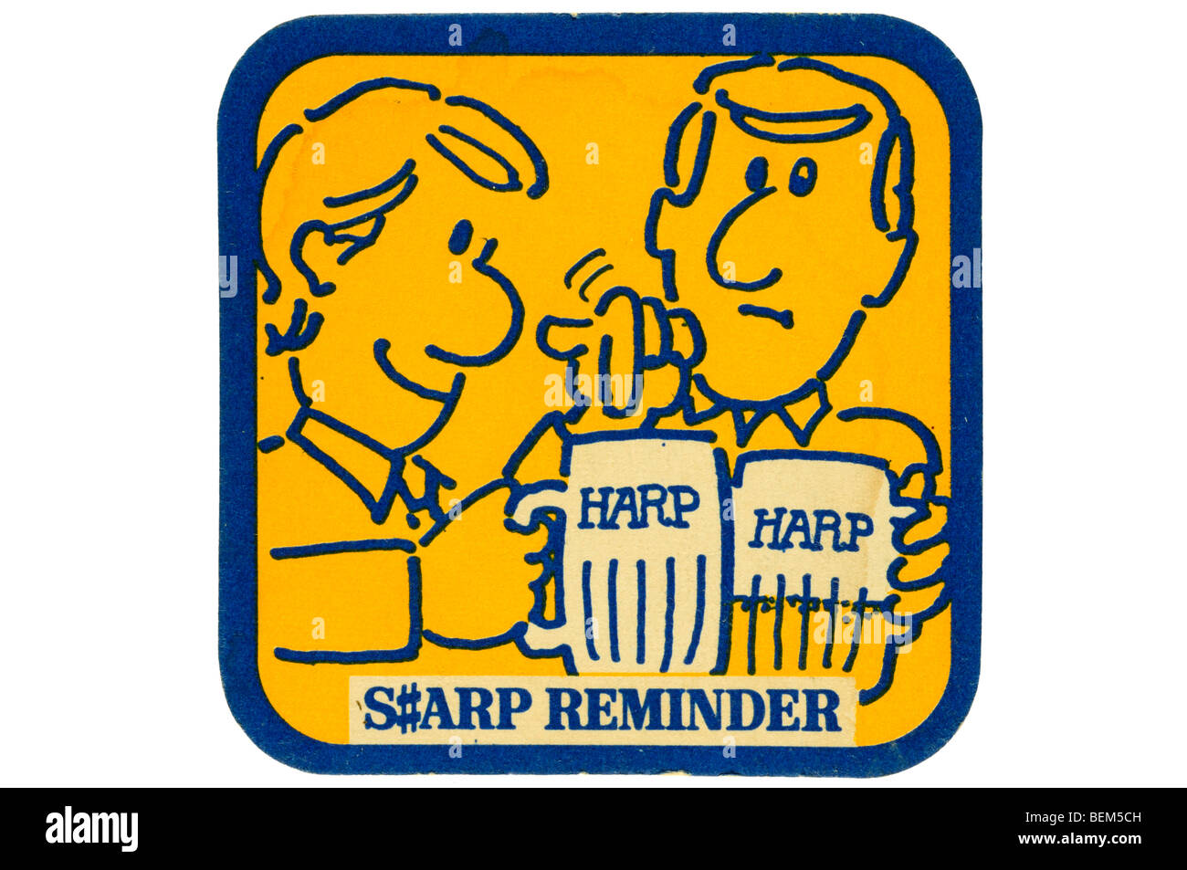 harp s#arp reminder - Stock Image