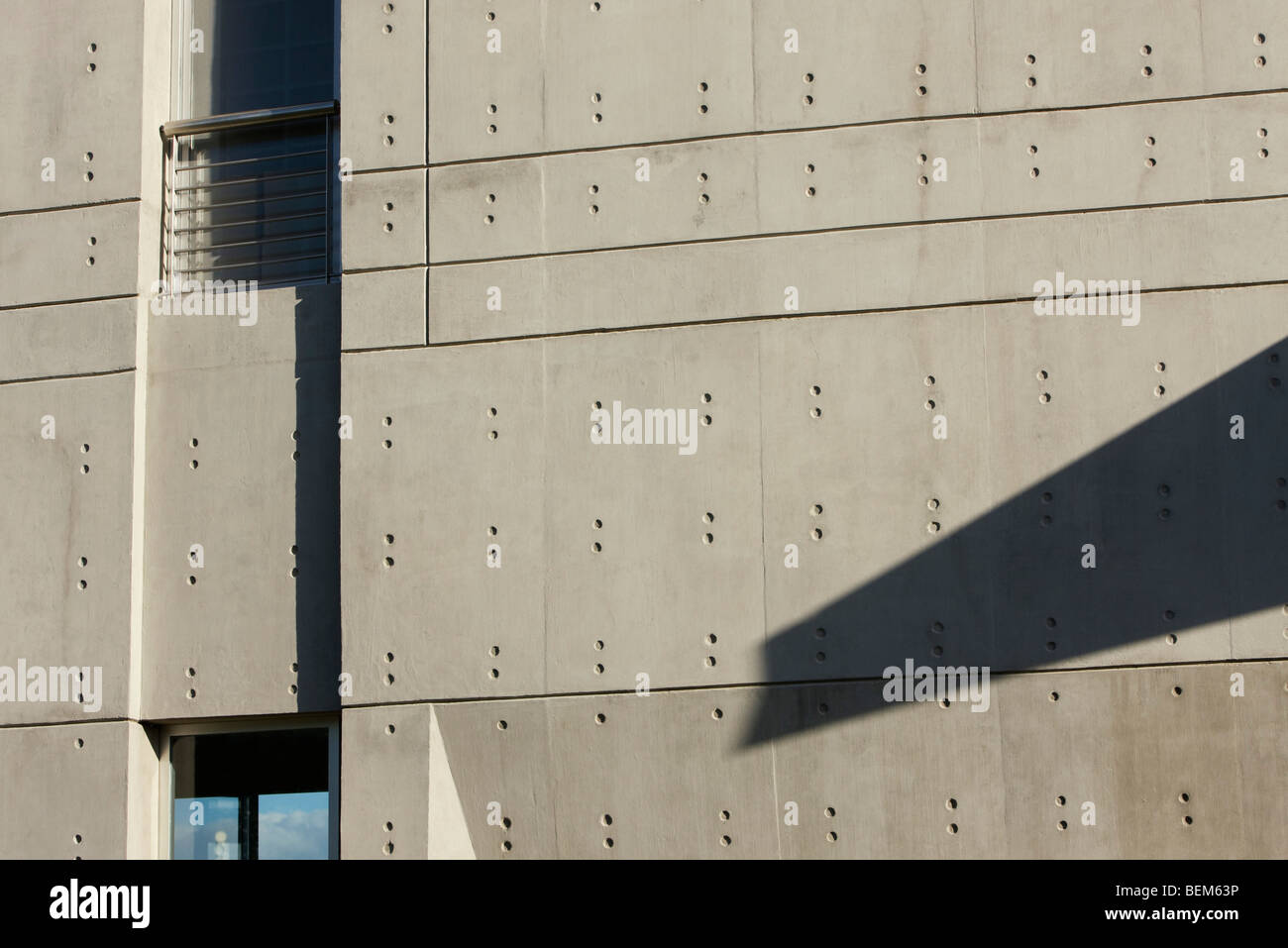 Facade of contemporary building - Stock Image