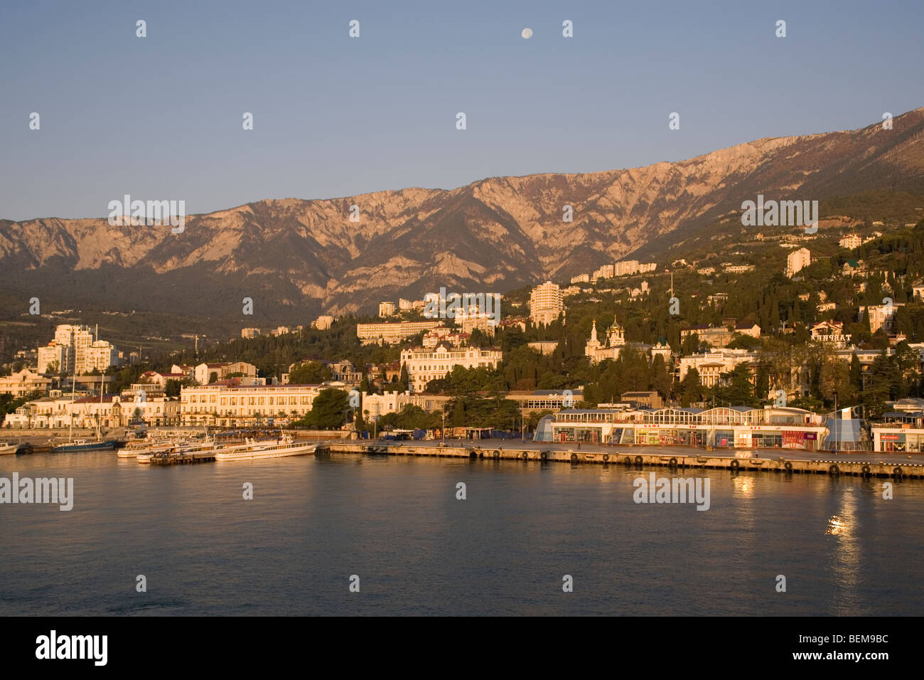 Ukraine Crimea Yalta at sunrise - Stock Image