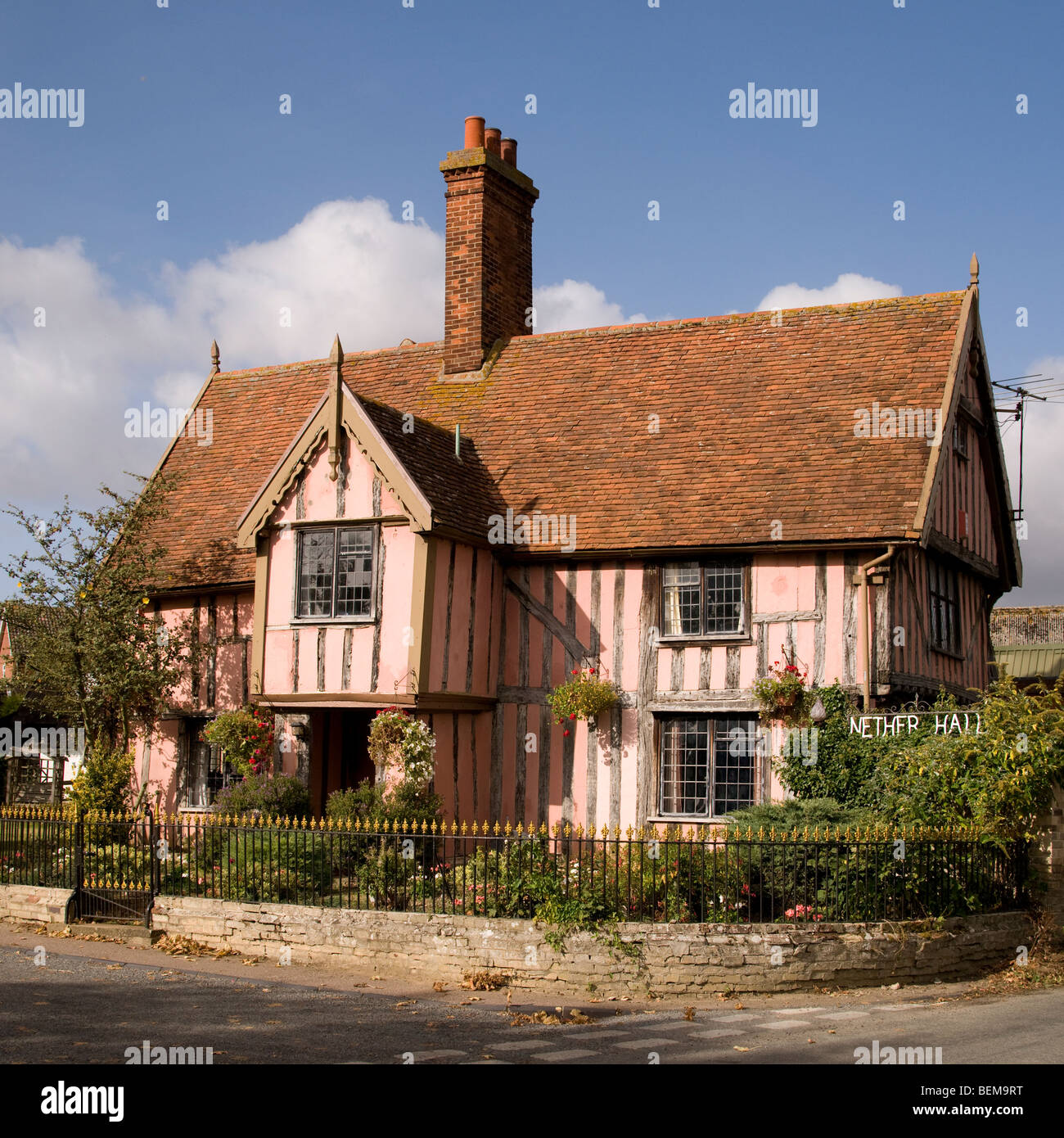 Nether Hall in Cavendish, Suffolk, England - Stock Image