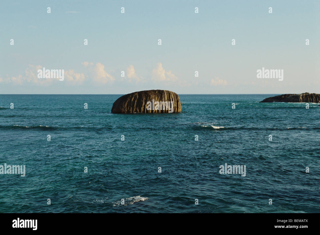 Seascape with rock formations - Stock Image