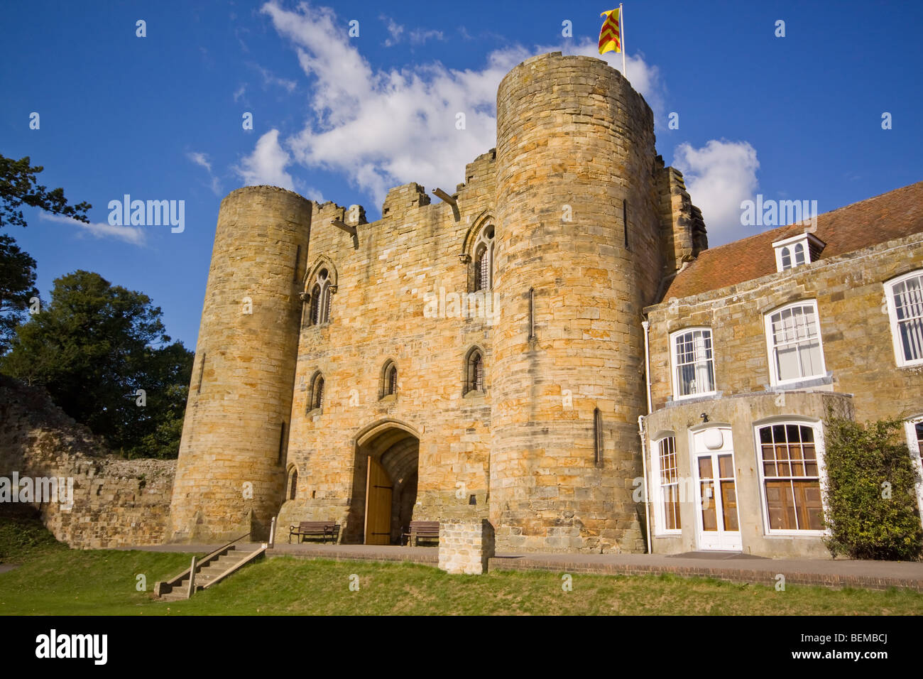 The Gatehouse at Tonbridge Castle Kent - Stock Image