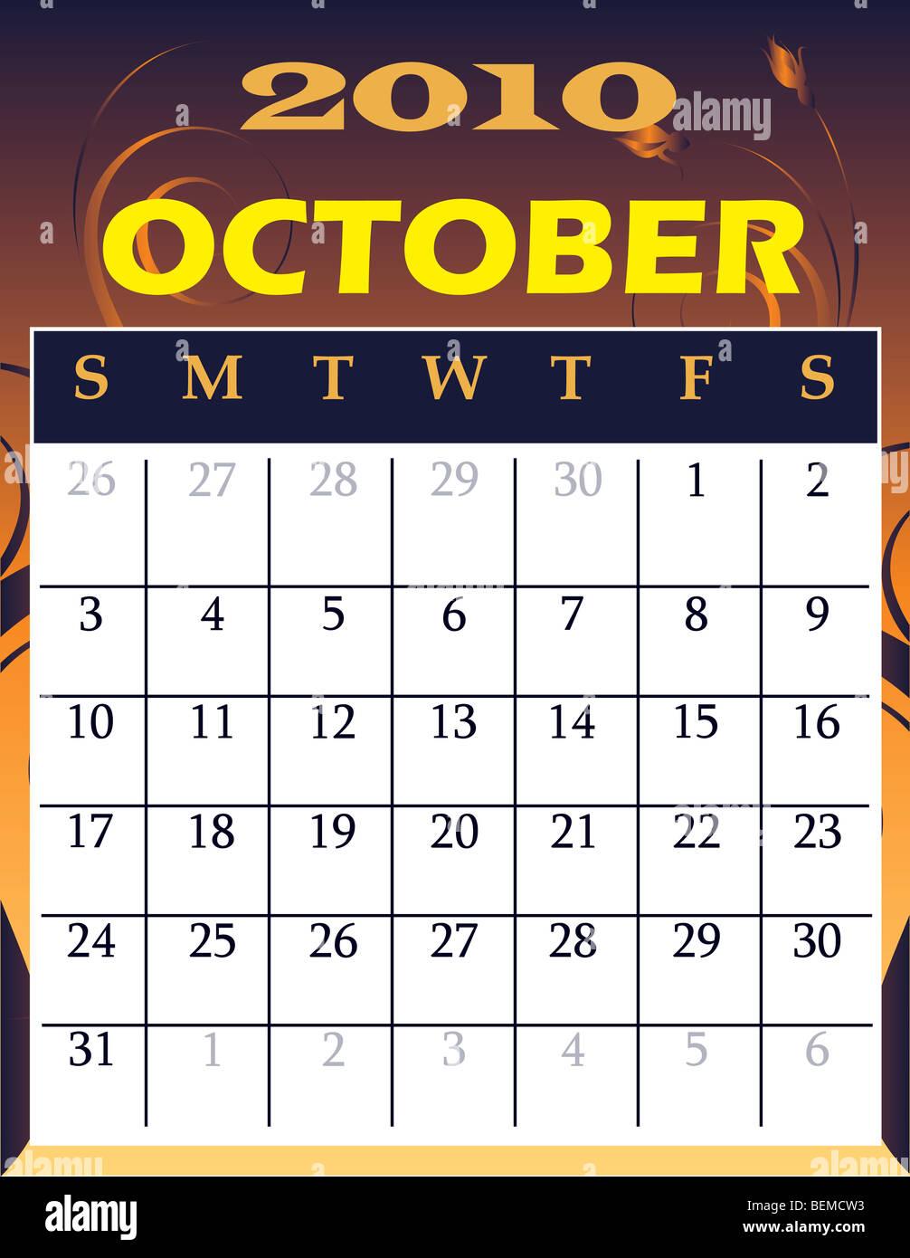 October - October 2018 Calendar Transparent Background Transparent PNG -  1201x1448 - Free Download on NicePNG