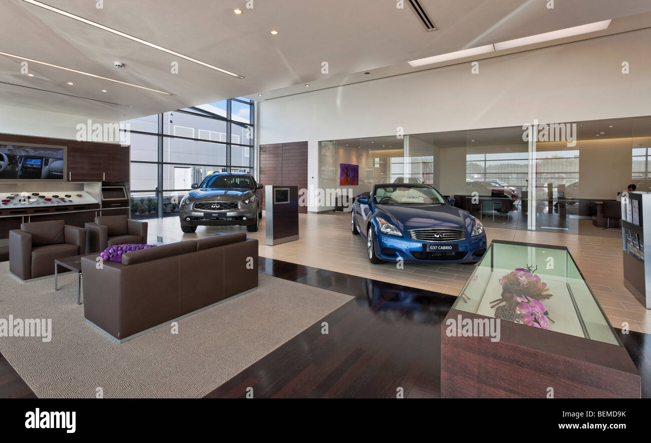 Infiniti Dealer Reading >> Infiniti Car Showroom In Reading Stock Photo 26265055 Alamy
