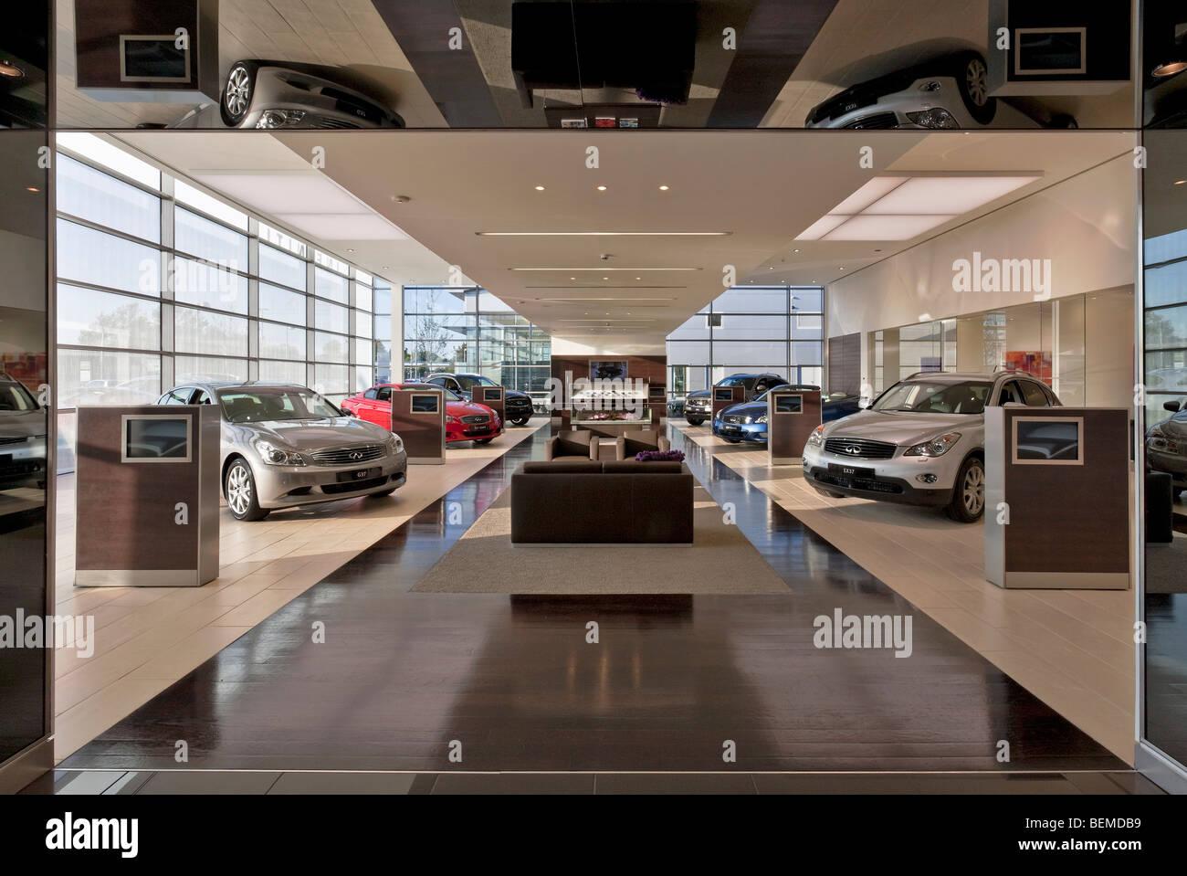 Infiniti Dealer Reading >> Infiniti Car Showroom In Reading Stock Photo 26265101 Alamy