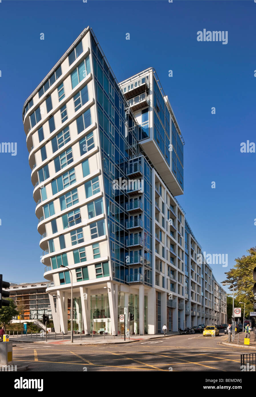 The Visage Apartments and Penthouse in Swiss Cottage, London, UK. - Stock Image