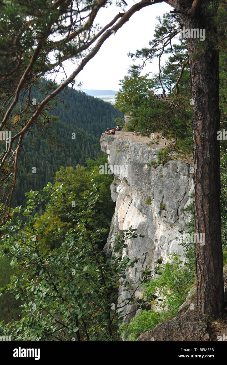 Tomasovsky Vyhlad above the Hornad river Slovensky Raj - Stock Image