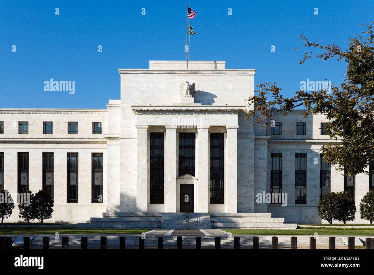 The Federal Reserve Building, Constitution Avenue, Washington DC, USA - Stock Image