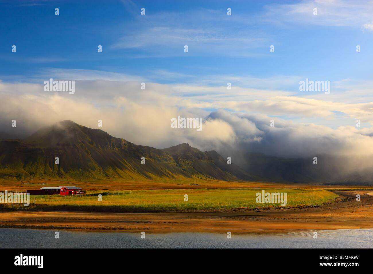 Farm on Snaefellsnes peninsula - Stock Image