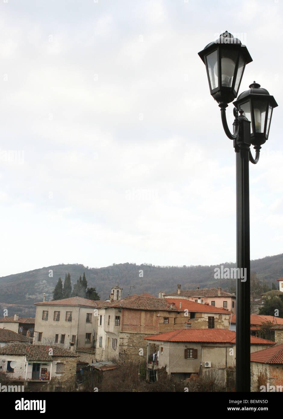 View of Ampelakia, Thessalia, Greece - Stock Image