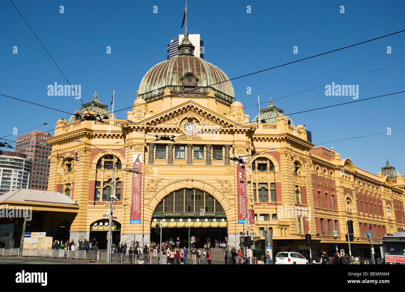 flinders street station melbourne stock photos flinders street