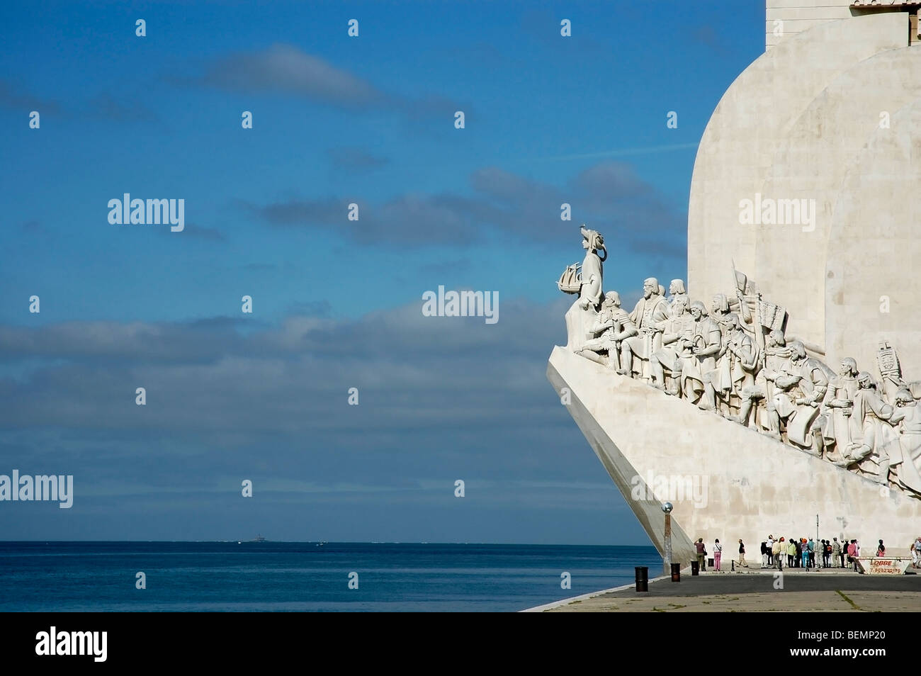 Monument of Discoveries, Lisbon, Portugal, Tagus River - Stock Image