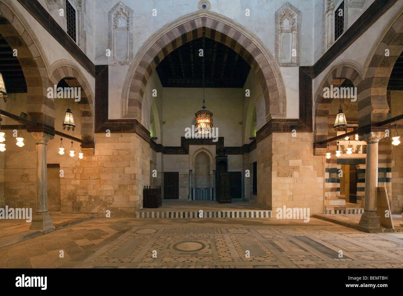 prayer hall complex of Aslam al-Silahdar, Cairo, Egypt - Stock Image