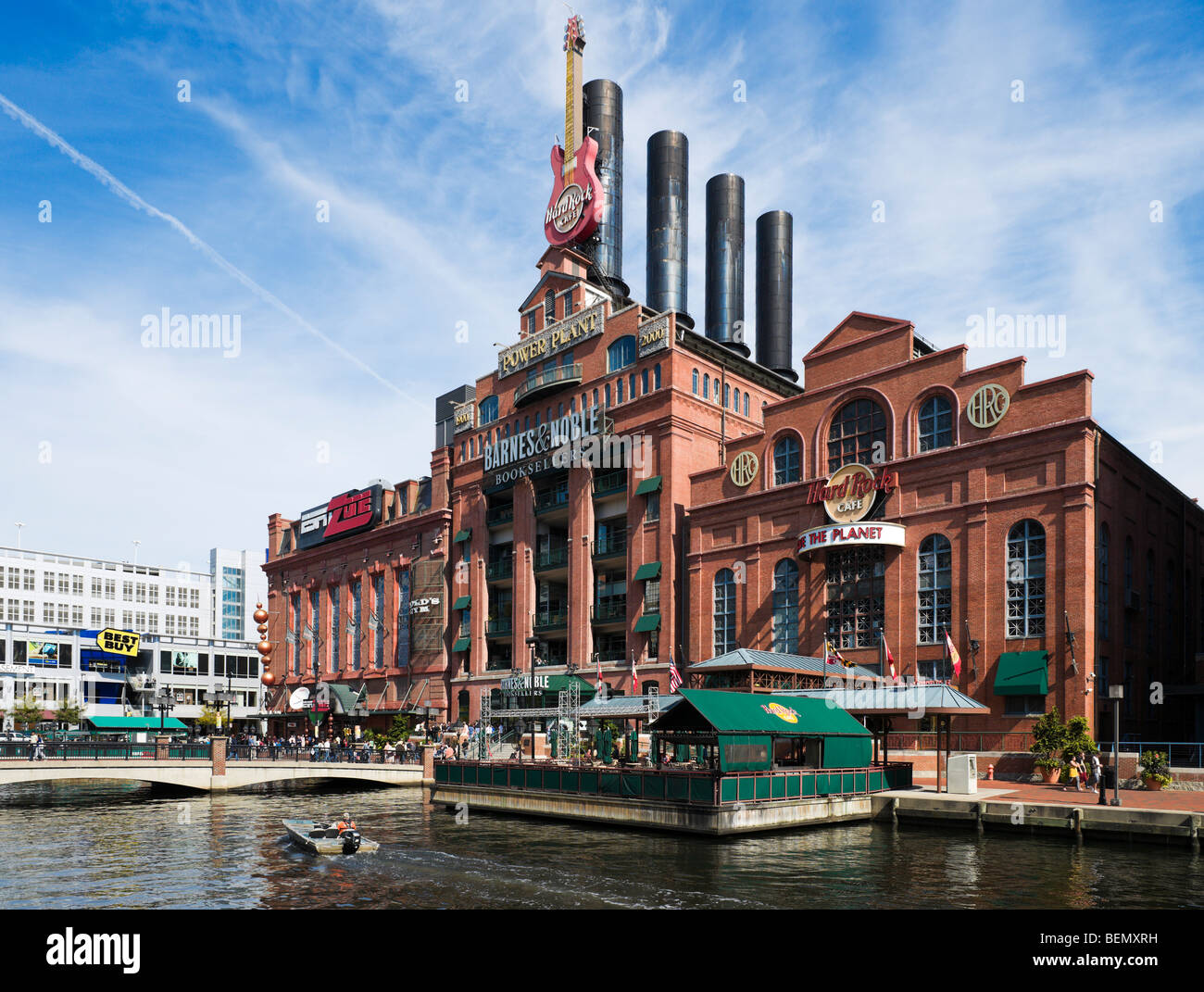 The old Power Plant, Inner Harbor, Baltimore, Maryland, USA - Stock Image