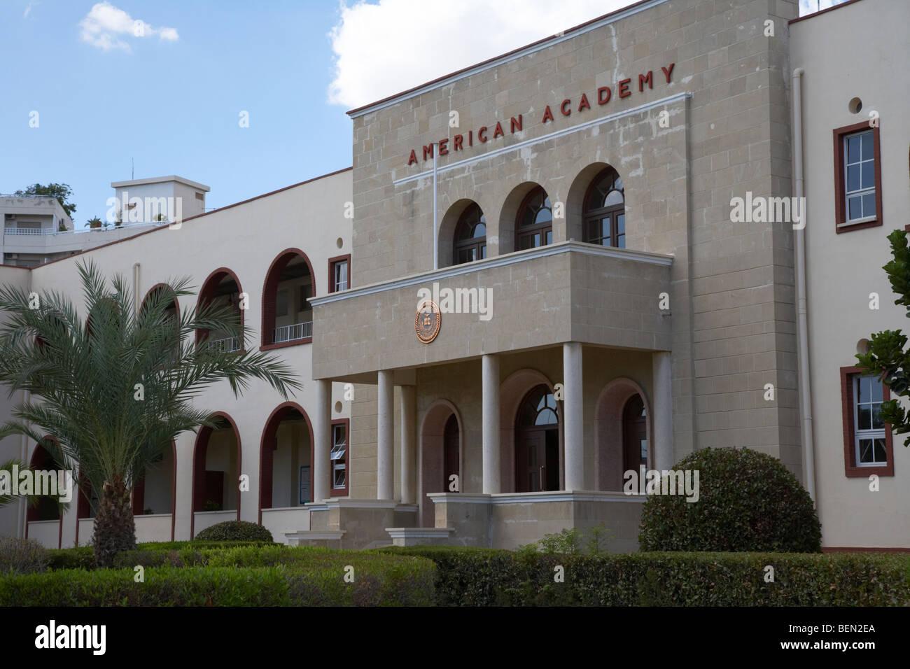 american academy private school larnaca republic of cyprus europe - Stock Image