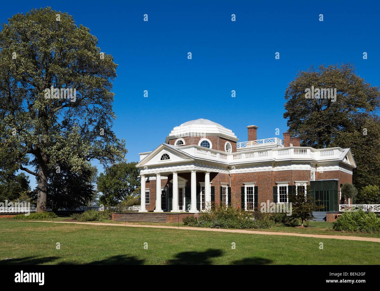 The home of Thomas Jefferson, Monticello, Charlottesville, Virginia, USA - Stock Image