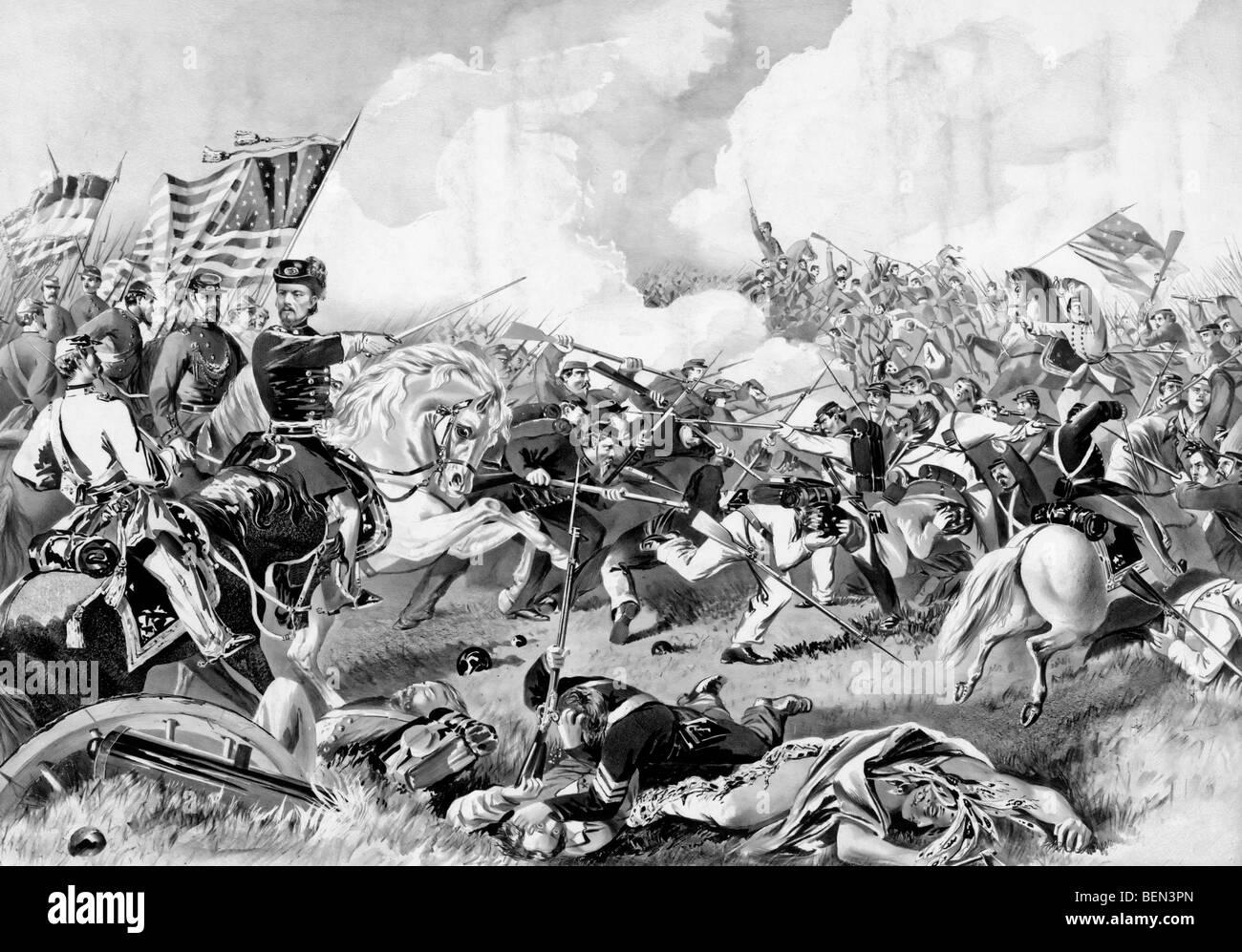 Battle of Pea Ridge, Arkansas, March 8th 1862 in the American Civil War - Stock Image