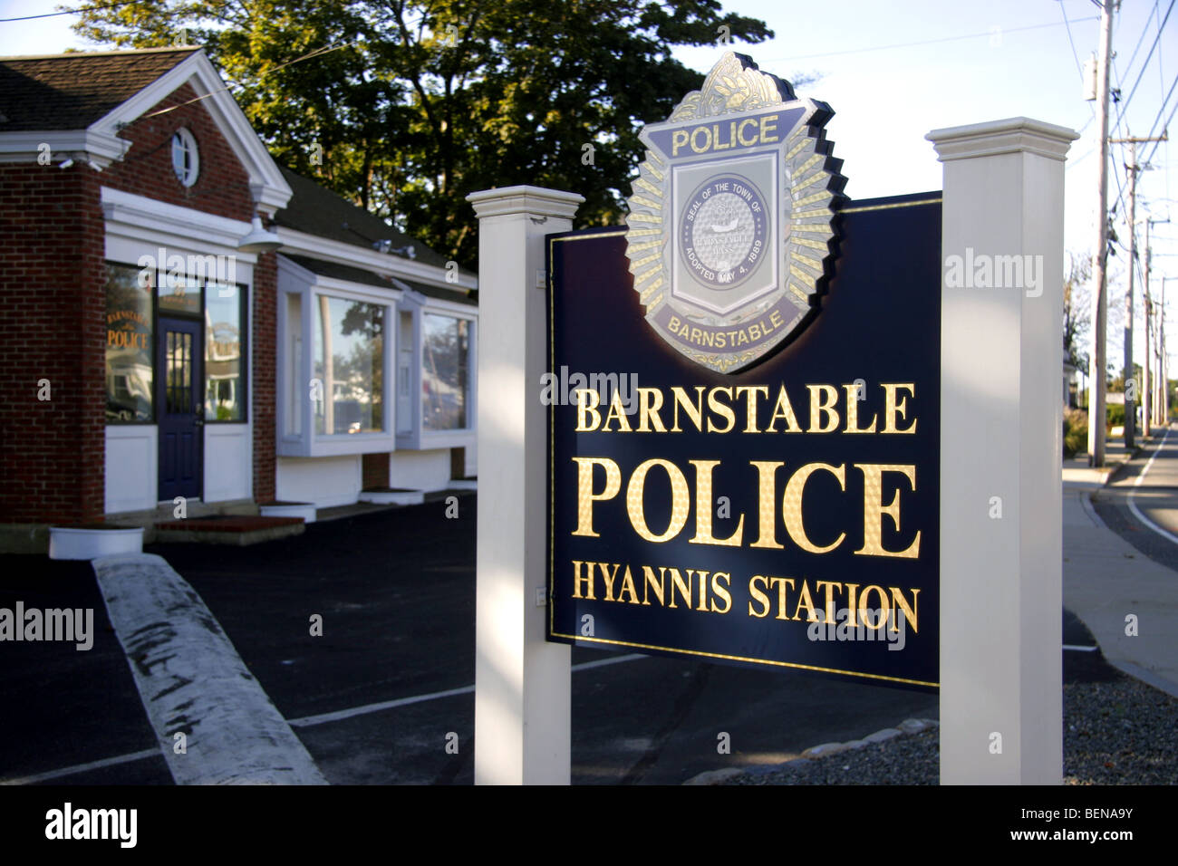 Barnstable police station at Hyannis, Cape Cod