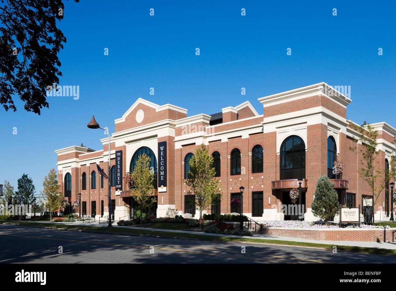 The Hershey Story Museum on Chocolate Avenue, Hershey, Pennsylvania, USA - Stock Image