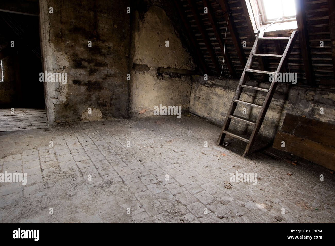 old attic - Stock Image